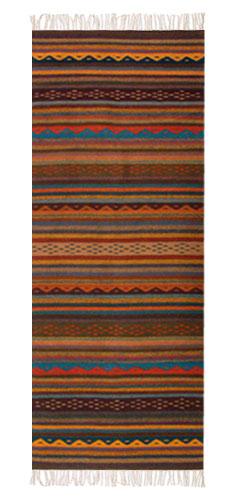 Handmade Zapotec Rug 2 5x6 5 Glowing Embers Novica