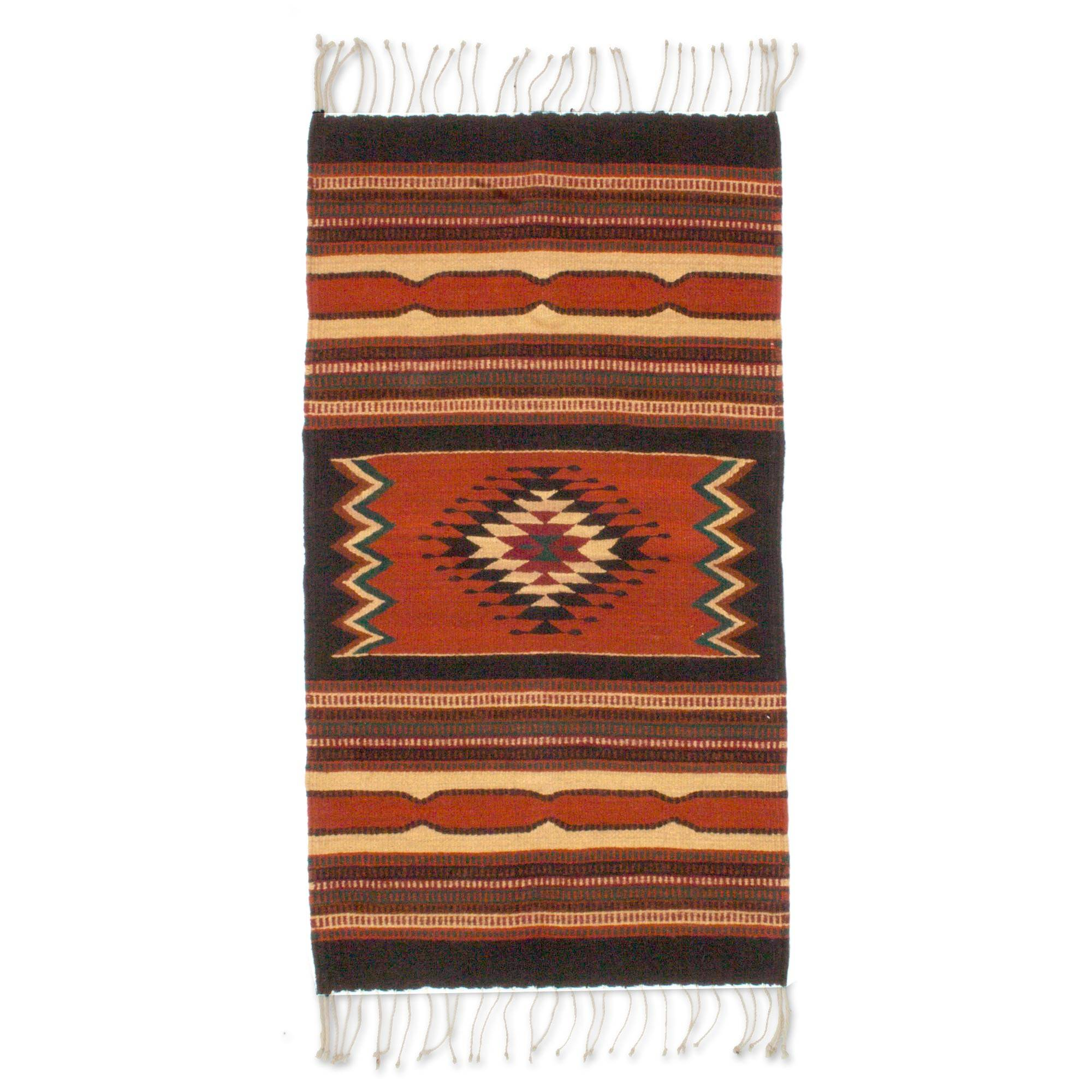 Unicef Uk Market Zapotec Wool Area Rug 2x3 Zapotec