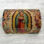 Handmade Catholic Decoupage Wood Chest, 'Virgin of Guadalupe'
