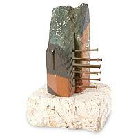Sculpture, 'Silent Witness' - Unique Abstract Stone Sculpture