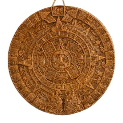 Ceramic Archeological Wall Plaque Handmade in Mexico