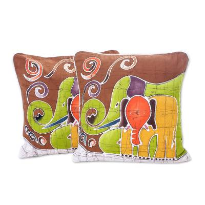 Cotton Cushion Covers from Thailand (Pair)