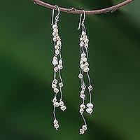 Pearl waterfall earrings,
