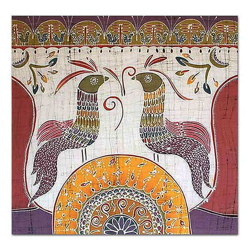 Unicef Market Batik Cotton Wall Hanging Song For The