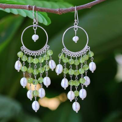 Pearl and peridot chandelier earrings peridot ruffles novica pearl chandelier earrings peridot ruffles pearl and peridot chandelier earrings mozeypictures Choice Image