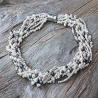 Pearl strand necklace, 'Luminous' - Pearl strand necklace