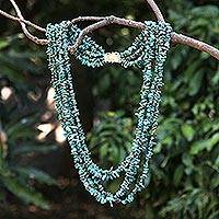 Turquoise torsade necklace, 'Blue Surf' - Turquoise Torsade Necklace