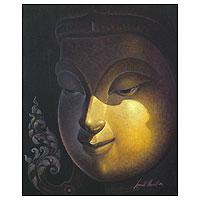 'Meritorious' - Spiritual Buddha Painting