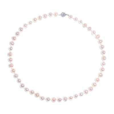 Handcrafted Bridal Pearl Strand Necklace