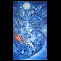 'Universal Space…Elements…Consciousness… Introspection and Power' (2003) - Abstract Oil Painting (2003)