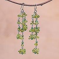 Peridot earrings,