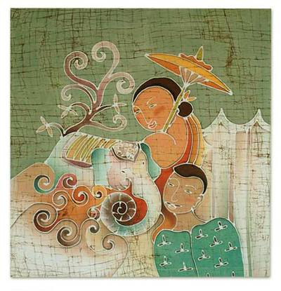 Artisan Crafted Batik Cotton Wall Hanging