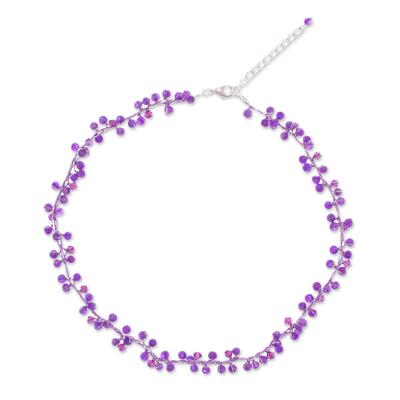 Unique Beaded Amethyst Necklace