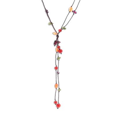 Carnelian and Garnet Necklace