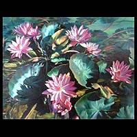'Lotus in the Dry Season' (2005) - Floral Realist Painting