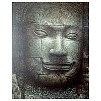 'Khmer Time' - Spiritual Acrylic Painting