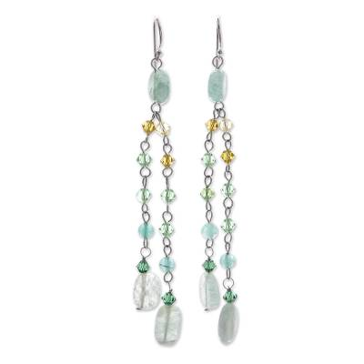 Beaded Quartzite Earrings
