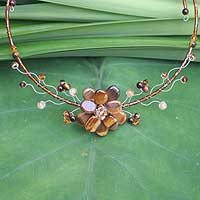 Featured review for Tigers eye choker, Golden Bouquet