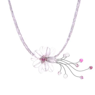 Handcrafted Rose Quartz Necklace