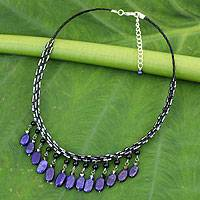 Featured review for Lapis lazuli choker, Raindrops