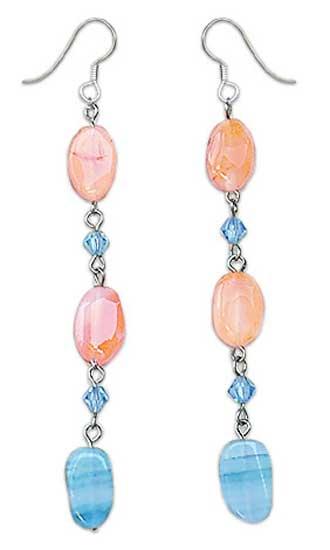 Carnelian dangle earrings, 'Precious' - Carnelian dangle earrings