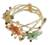 Carnelian and garnet wrap bracelet, 'Forest Garland' - Unique Multigem Floral Wristband Bracelet (image 2a) thumbail