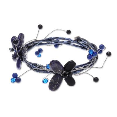 Handmade Lapis Lazuli Beaded Bracelet