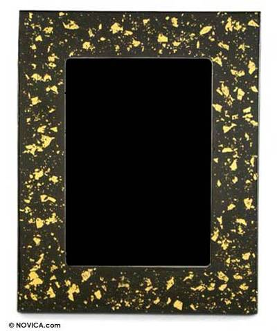 Lacquered wood mirror (5x7)