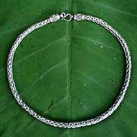 Men's sterling silver necklace, 'Illusion' - Men's sterling silver necklace