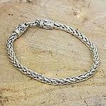 Men's Sterling Silver Chain Bracelet from Thailand, 'Strength'