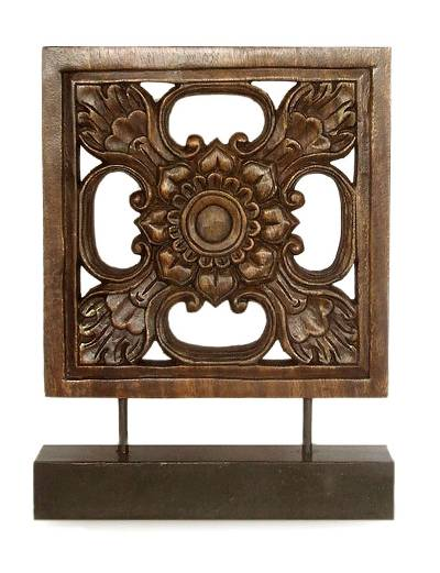 Hand Carved Wood Sculpture from Thailand