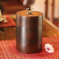 Mango wood box, 'Black Coffee' - Mango wood box