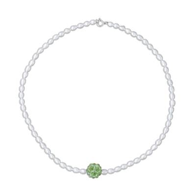 Pearl and Peridot Necklace
