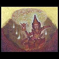 'Faithful' - Surrealist Buddha Painting