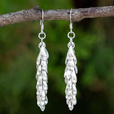 Sterling silver cluster earrings, 'Heavenly Dewdrops' - Sterling Silver Waterfall Earrings