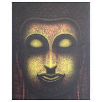 'The Light on the Way' (2006) - Buddha Acrylic Painting