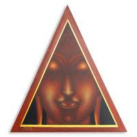 'The Faith of Buddha' - Acrylic Spiritual Painting