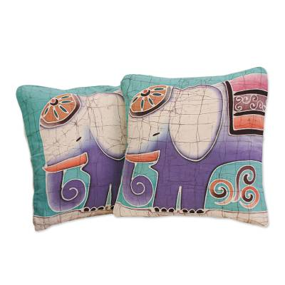 Hand Crafted Cotton Cushion Covers (Pair)