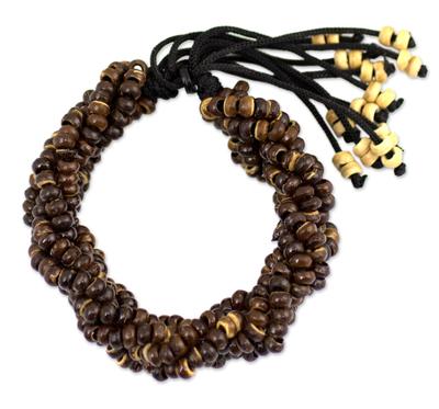 Thai Coconut Shell Braided Bracelet