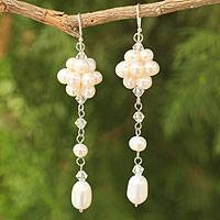 Pearl dangle earrings, 'Offer of Grace'