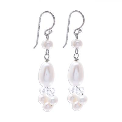 Fair Trade Pearl Dangle Earrings