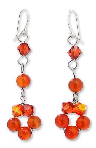 Artisan Jewelry Carnelian Earrings