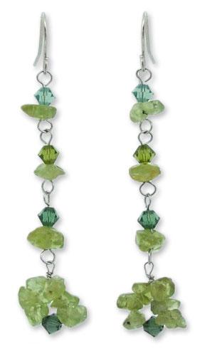 Beaded Peridot Earrings