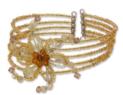 Handmade Citrine Wristband Bracelet