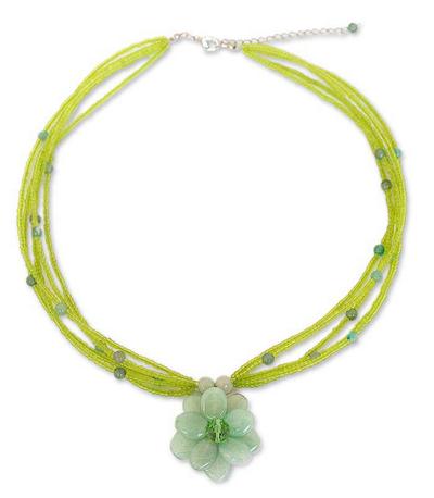 Floral Quartz Necklace