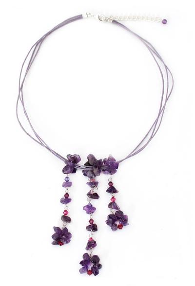 Unique Amethyst Necklace