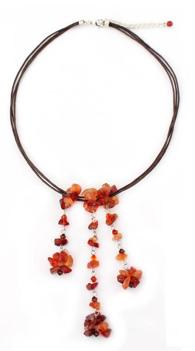 Handcrafted Carnelian Necklace
