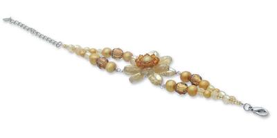 Fair Trade Citrine and Pearl Bracelet