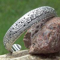 Sterling silver cuff bracelet, 'Victory' - Hand Made Sterling Silver Cuff Bracelet