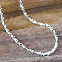Sterling silver choker, 'Silver Dancer' - Sterling silver choker
